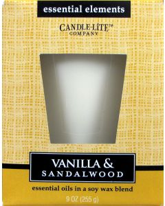 Essential 9 oz/255g Vanilla & Sandalwood