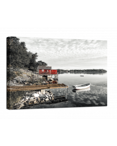 Tavla Canvas 75x100 The red Hut