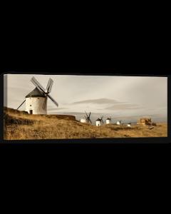 Tavla Canvas 32x100 Väderkvarnar