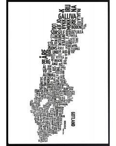Poster 50x70 Sveriges kommuner 50x70 (Planpackad)