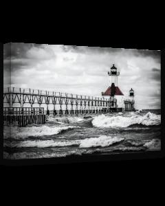Tavla Canvas 75x100 St Joseph Lighthouse