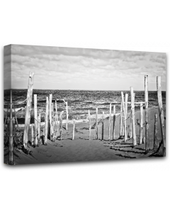 Tavla Canvas 75x100 Beach B&W