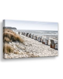 Tavla Canvas 75x100 Beach Huts