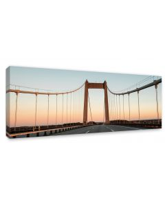 Tavla Canvas 60x150 Bridge sunset