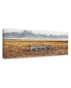 Tavla Canvas 60x150 Zebra Herd