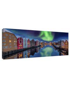 Tavla Canvas 60x150 Trondheim Northern Light