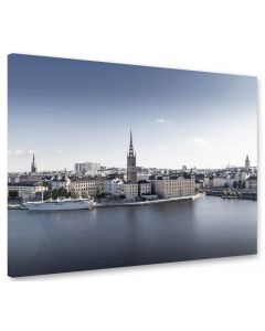 Tavla Canvas 75x100 Stockholm Blue Sky