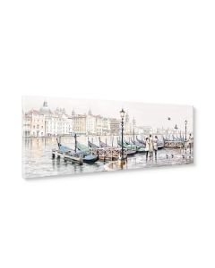 Tavla Canvas 32x100 Venice Harbour