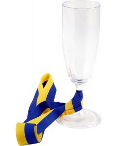 Student Champagneglas med Sverigeband