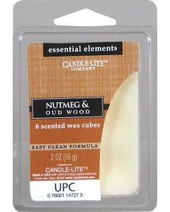 Essential 2 oz/56g Wax Cubes Nutmeg & Oud Wood