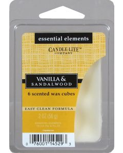 Essential 2 oz/56g Wax Cubes Vanilla & Sandalwood