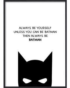 Poster 30x40 Barnmotiv Batman (planpackad)