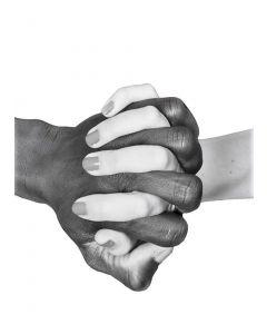 Poster 50x70 B&W Hands United (planpackad)