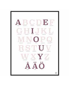 Poster 30x40 ABC Rosa