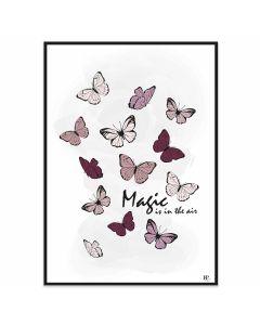 Poster 50x70 Frank & Poppy Butterflies (planpackad)
