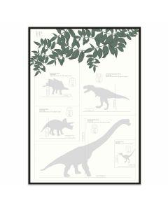 Poster 50x70 Frank & Poppy Dinos (planpackad)