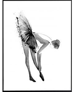 Poster 50x70 B&W Balett (planpackad)