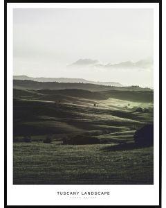 Poster 50x70 Green Nature Tuscany Landscape (planpackad)