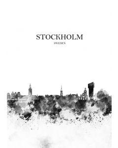 Poster 30x40 B&W Stockholm 1 (planpackad)