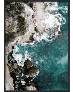 Poster 50x70 Green Ocean (Planpackad)