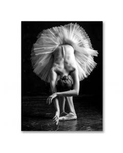 Poster 50x70 B&W Dancing woman  (planpackad)