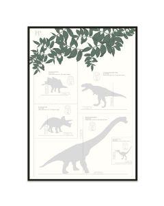 Poster 30x40 Frank & Poppy Dinos