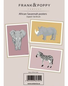 Poster 13x18 - 3 pack Frank & Poppy Savannah 1