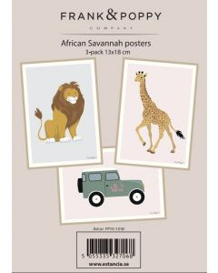 Poster 13x18 - 3 pack Frank & Poppy Savannah 2