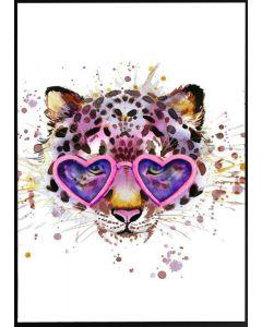Poster 50x70 G20 Katt med glasögon (planpackad)