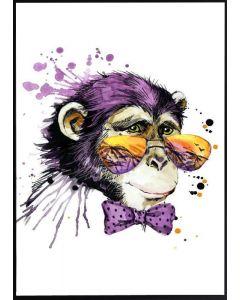Poster 50x70 G21 Apa med solglasögon (planpackad)