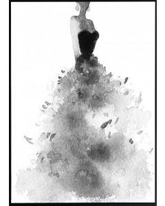 Poster 50x70 B&W Dress (planpackad)