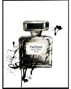 Poster 30x40 B&W Perfume Bottle (planpackad)