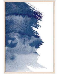 Poster 30x40 Blue Art No 1 (Planpackad)