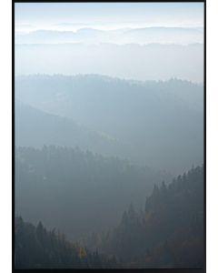 Tavla med ram 50x70 N52 Horisont skog