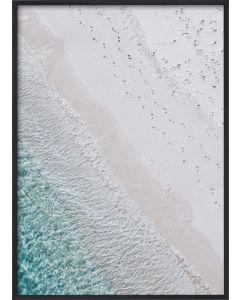 Poster 50x70 Pastel Blue Shore (Planpackad)