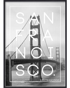 Poster 50x70 S18 San Francisco (planpackad)