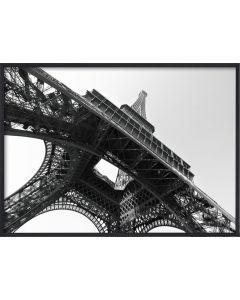 Poster 50x70 B&W Eiffel Tower (planpackad)