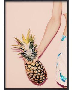 Poster 50x70 Pastel Pineapple 2 (planpackad)